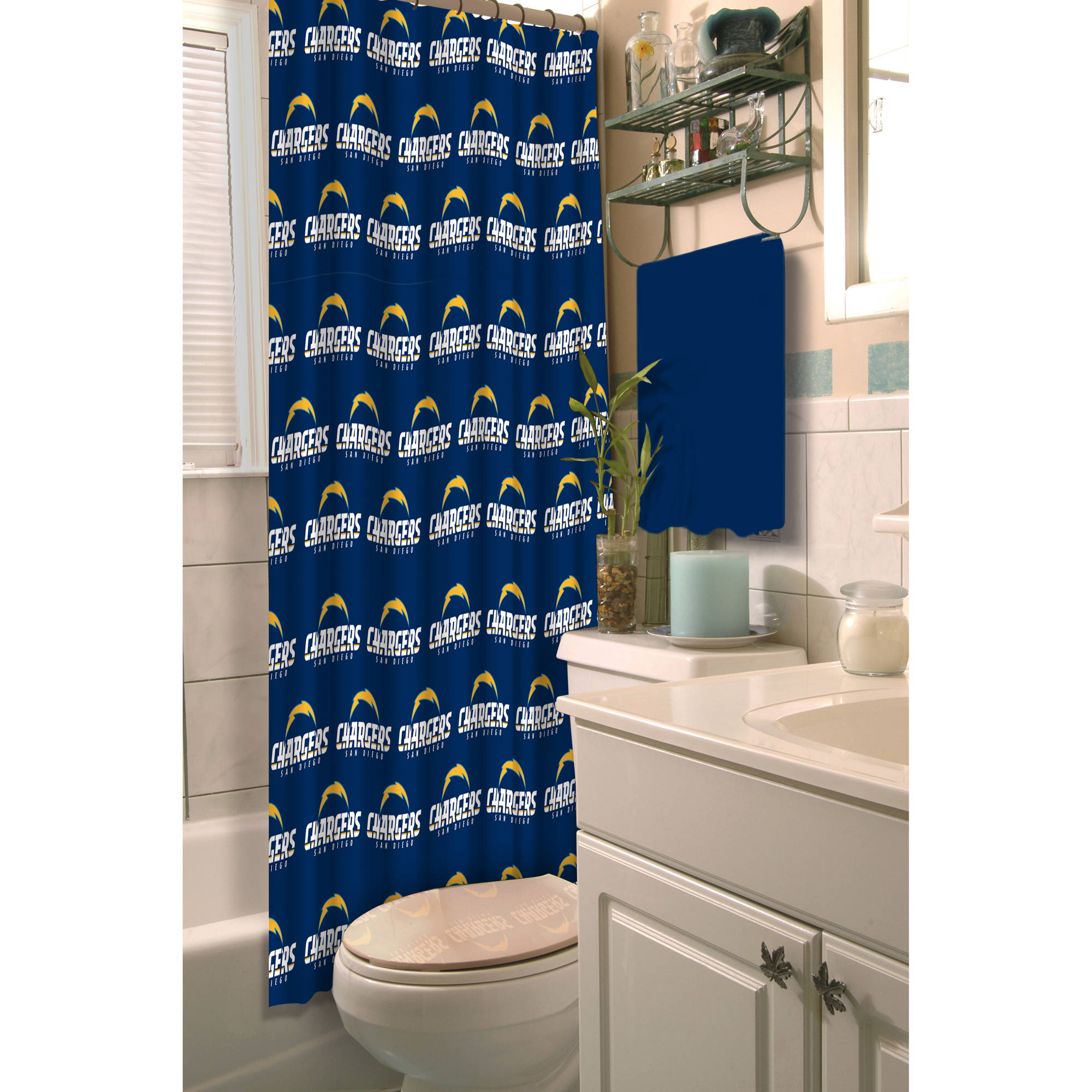 NFL San Diego Chargers Decorative Bath Collection - Shower Curtain