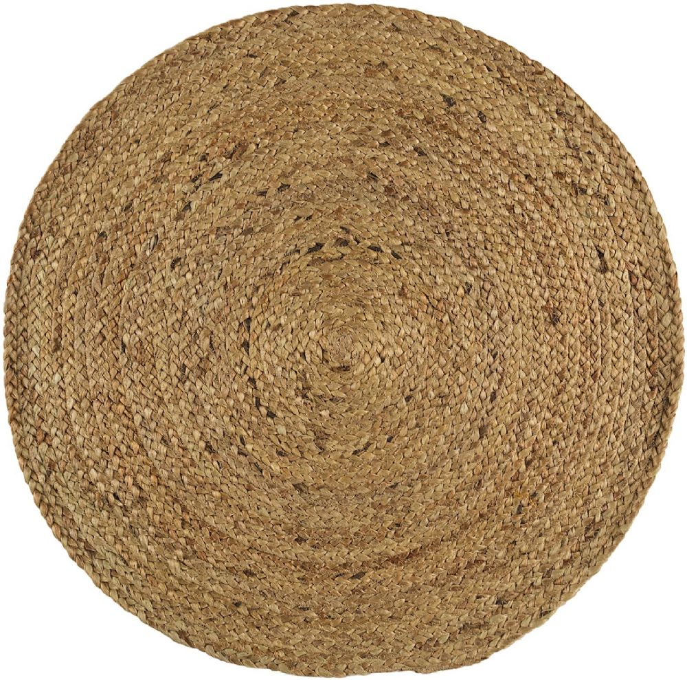 Natural Fiber Bryn Collection Area Rug in Oatmeal and Oval, Rectangle, Round, Runner Shape