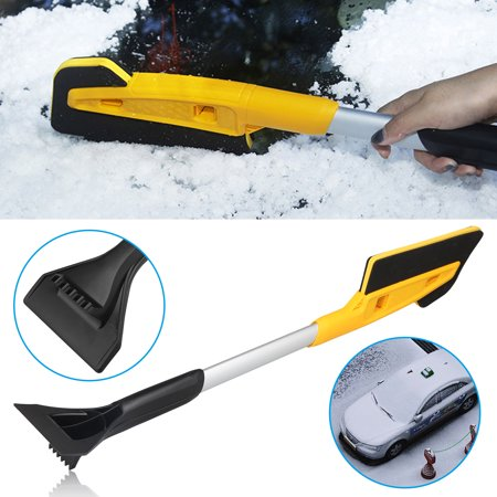 TSV Telescoping Snow Brush Ice Scraper Compatible with Most Cars, SUVs - Durable and Tough Auto Windshield Window Snow Brush Remover with Foam Grip, Comfort and Easy to Use Telescoping Ice Scraper