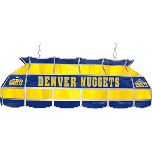 "Trademark Global NBA Denver Nuggets 40"" Stained Glass Billiard Table Light Fixture"