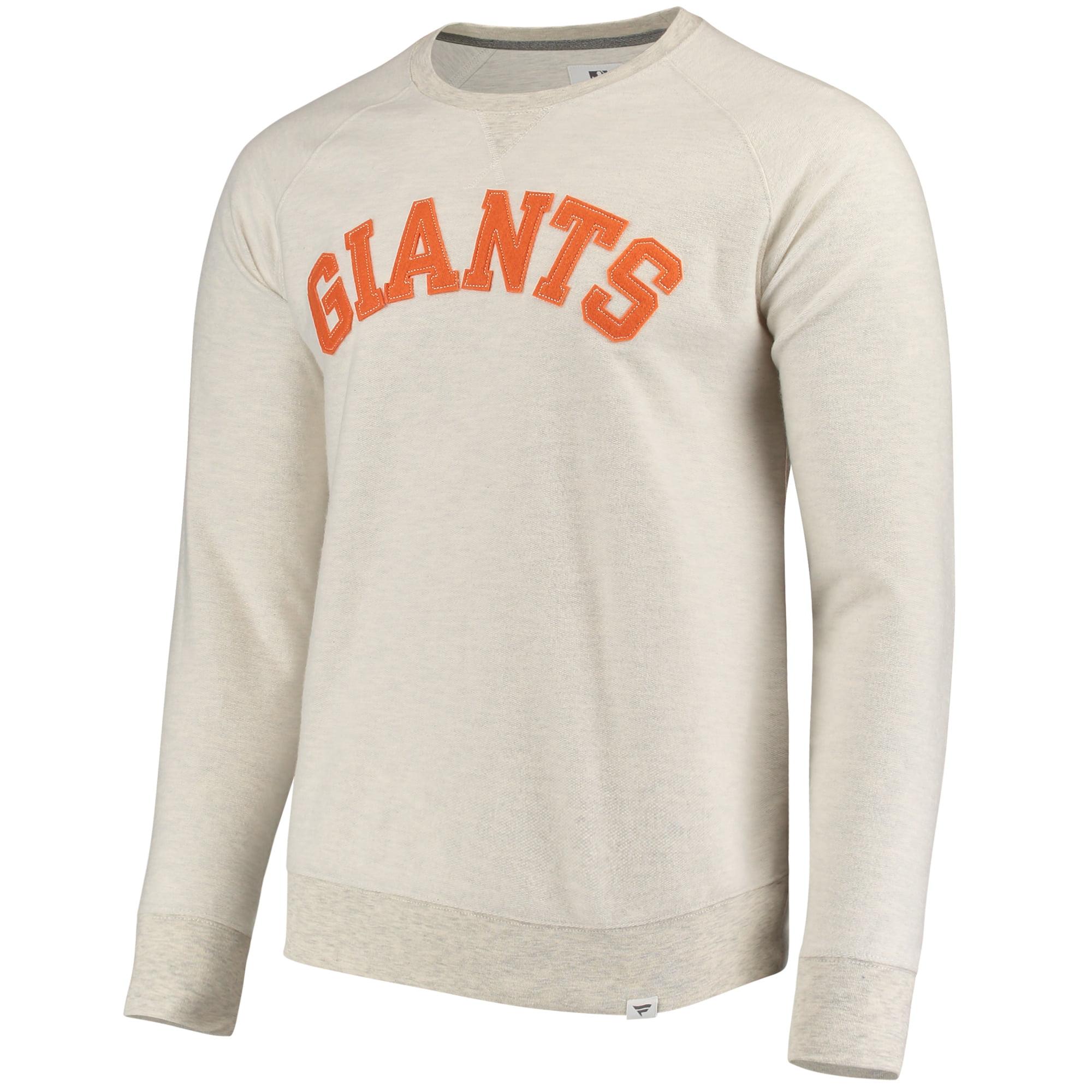 Men's Fanatics Branded Cream San Francisco Giants True Classics French Terry Pullover Sweatshirt