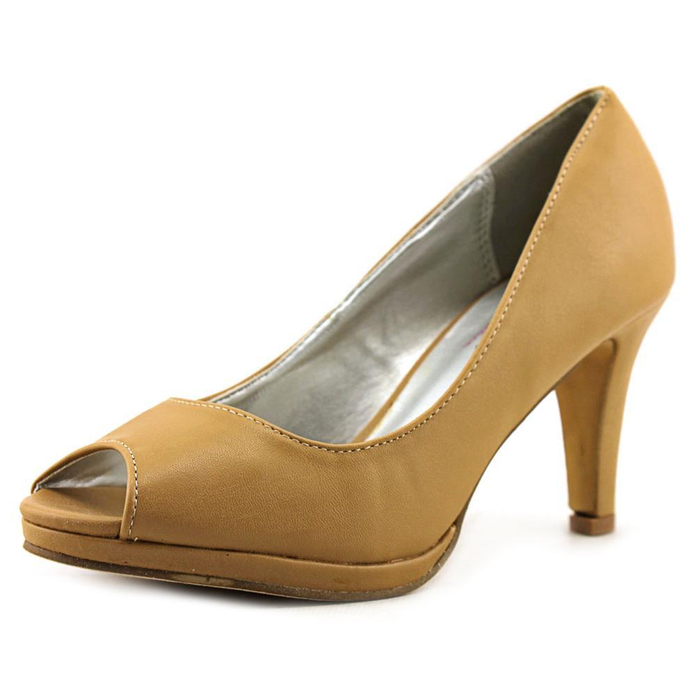 Non-Branded Chloe-02   Open-Toe Synthetic  Heels