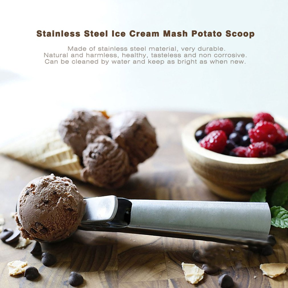 7 Inch Stainless Steel Ice Cream Mash Potato Scoop Useful Ice Cream Scoop by