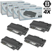 Compatible Replacements for Samsung MLT-D105L Set of 4 Black HY Laser Toner Cartridges for use in Samsung ML, SCX, & SF s