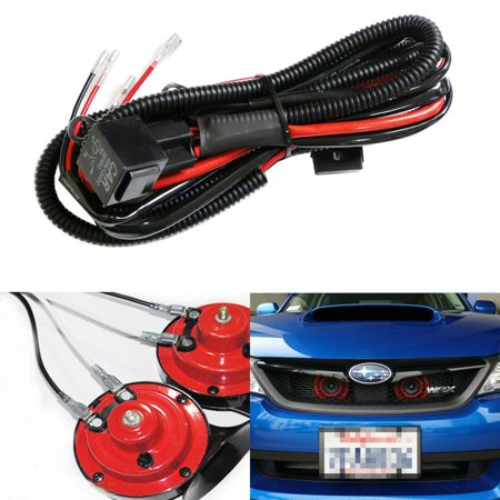 iJDMTOY (1) 12V Horn Wiring Harness Relay Kit For Car Truck Grille on