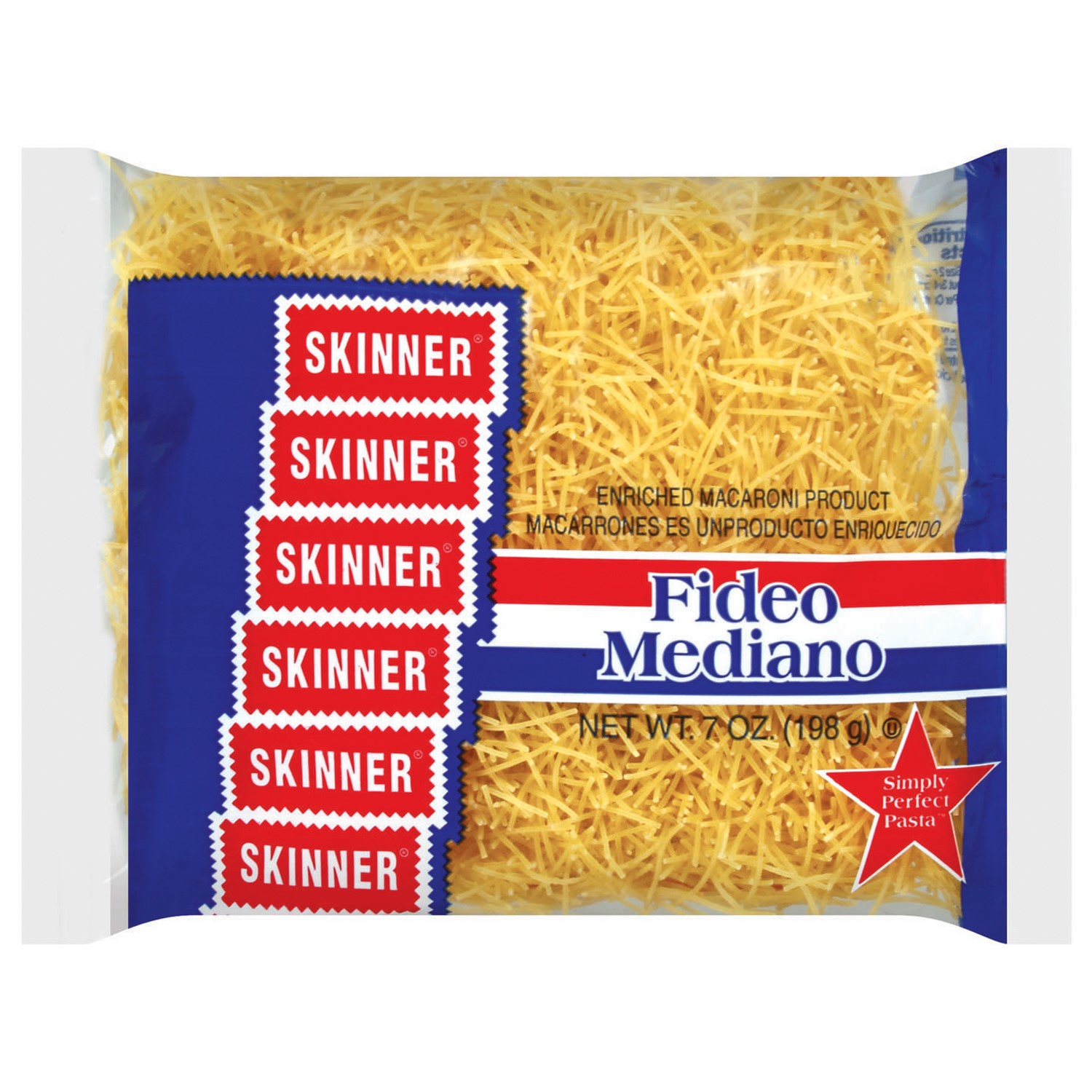 (6 Pack) Skinner Pasta, Fideo Mediano, 7 Oz