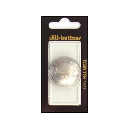 Dill Buttons 30mm 1pc Shank Matte Silver