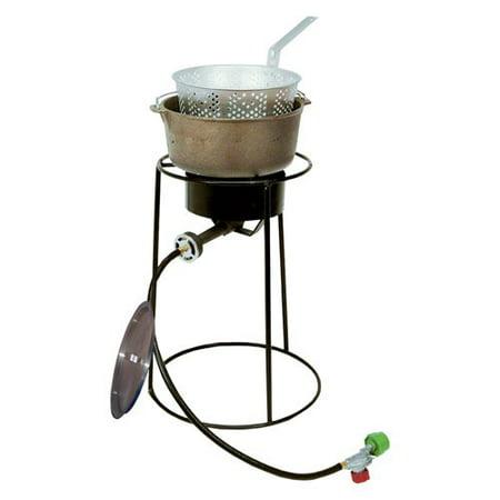 King kooker 22 in fish fryer with cast iron pot for Walmart fish fryer