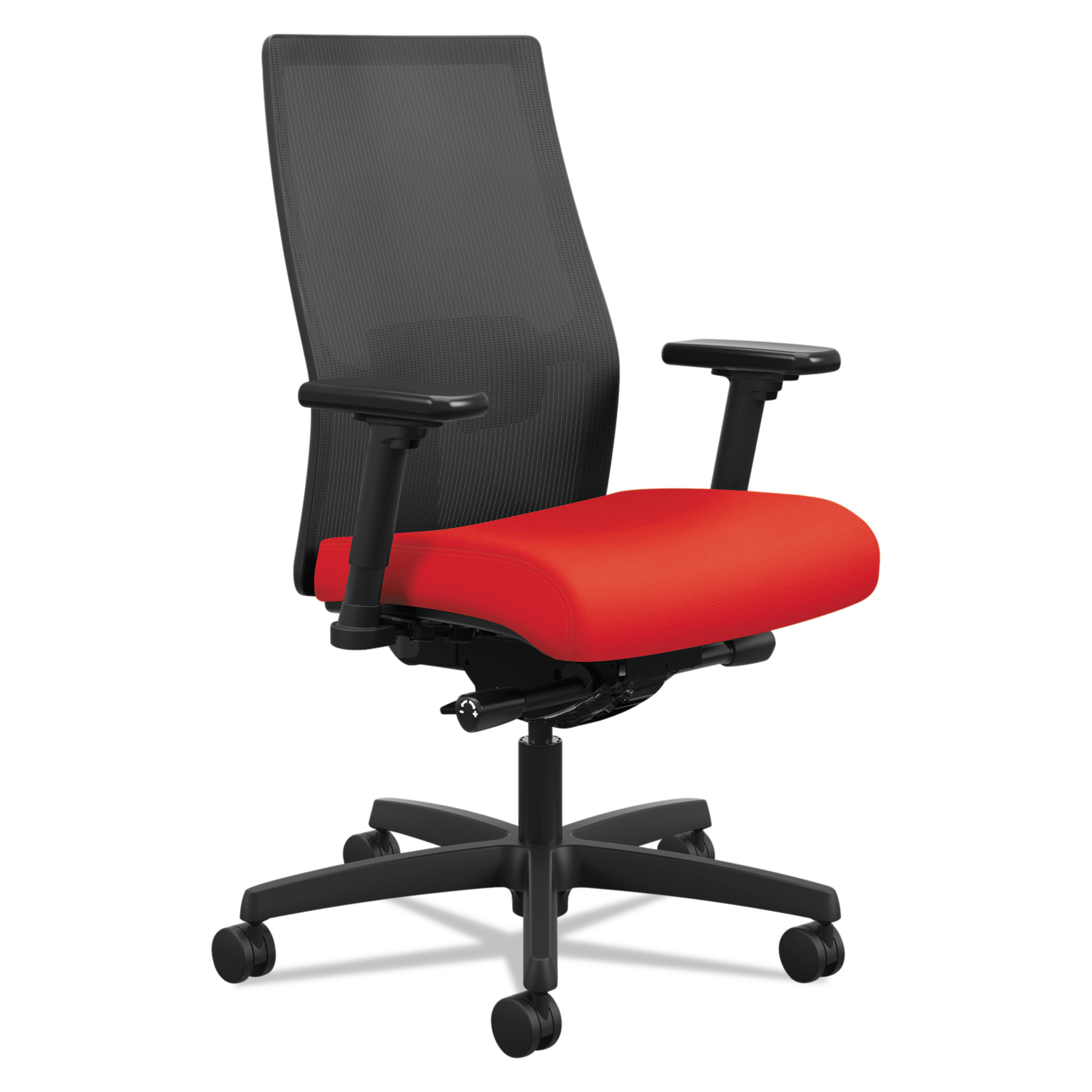 Ordinaire HON Ignition 2.0 Ilira Stretch Mid Back Mesh Task Chair, Ruby Fabric  Upholstery   Walmart.com