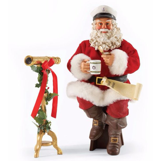Possible Dreams Nautical Or Nice Santa Christmas Figurine 2 Piece Set 4046485 Walmart Com Walmart Com