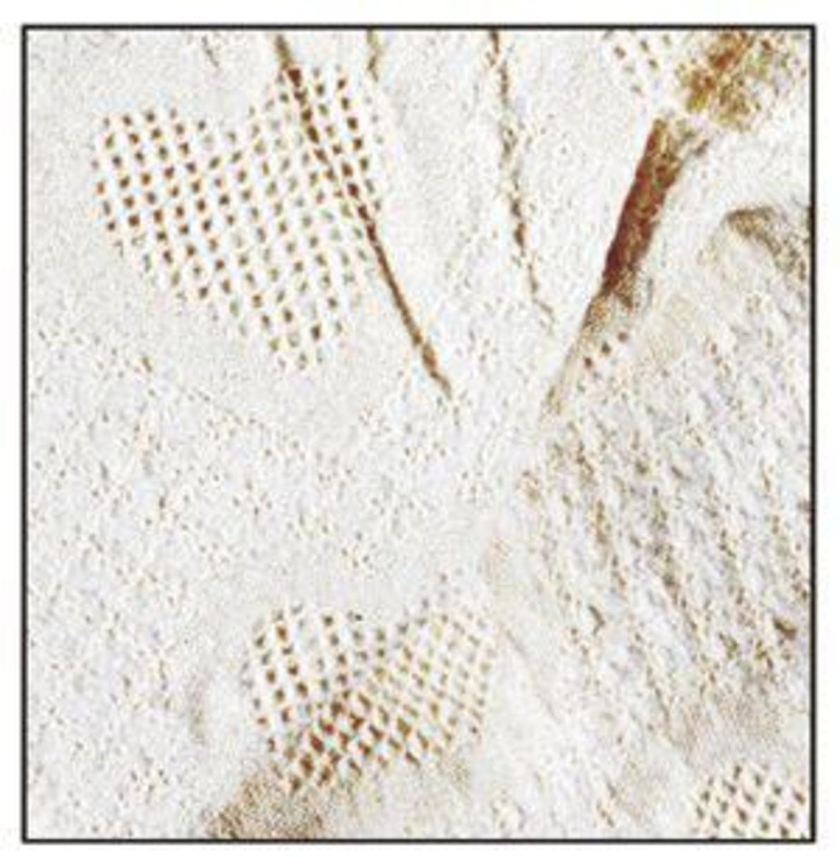 "Natural Honeycomb Heart Afghan Throw Blanket 50"" x 70"""