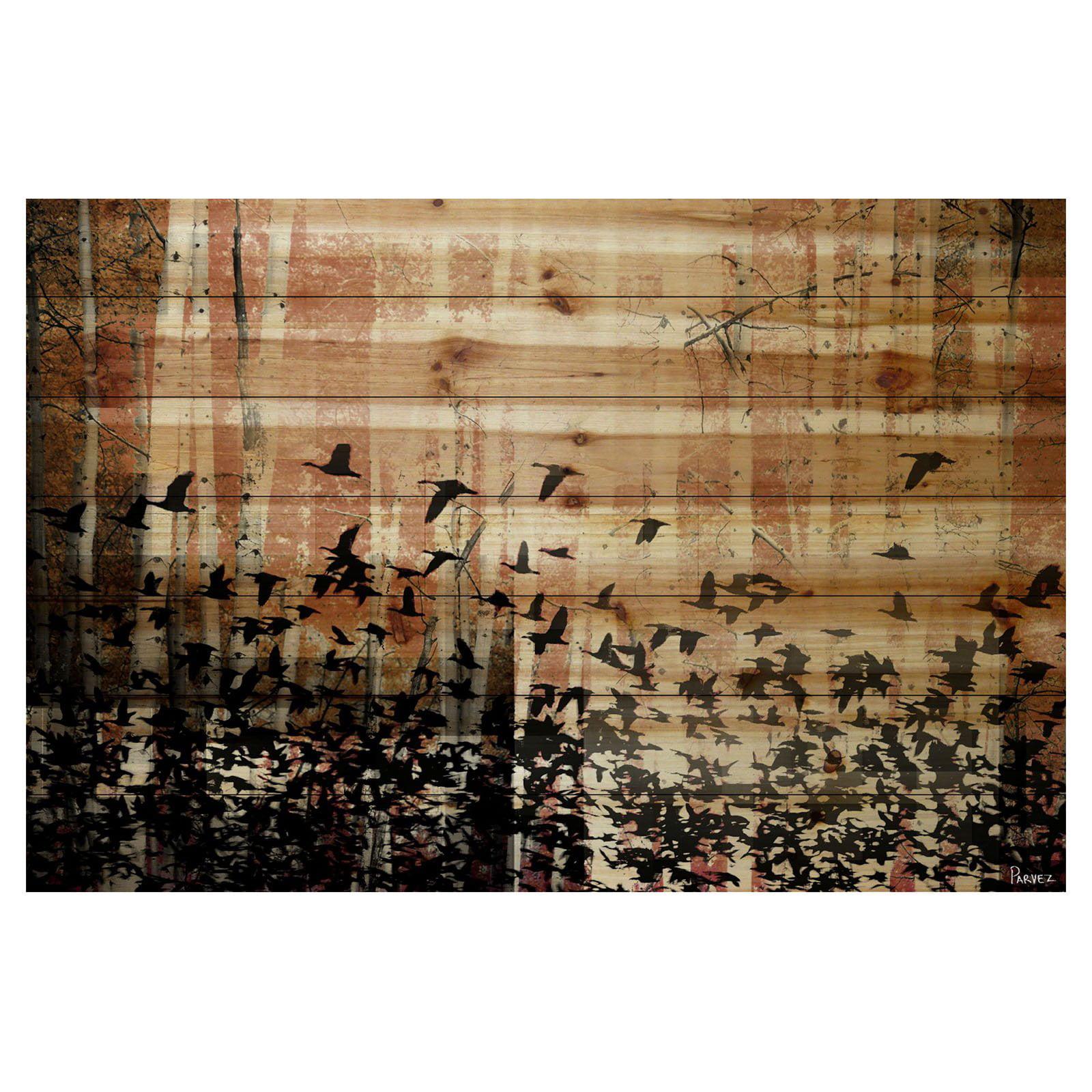 Parvez Taj Aspen Wood Painting Print on Natural Pine Wood