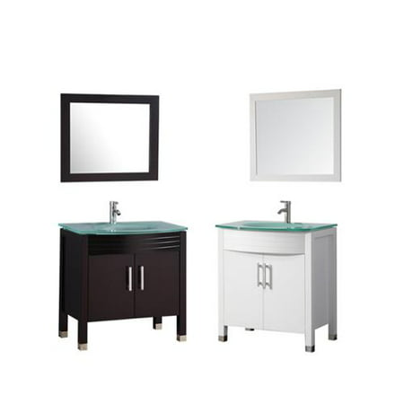 Mtd Vanities Figi 32 Inch Single Sink Bathroom Vanity Set With Mirror And Faucet