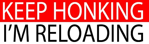 Large funny auto car decal bumper sticker truck rv boat window keep honking im