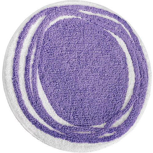 InterDesign Microfiber Polyester Doodle Round Bath Rug