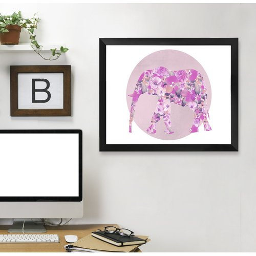 East Urban Home 'Elephants III' Graphic Art Print