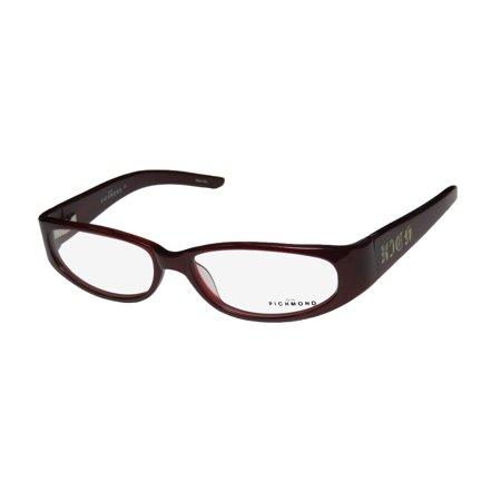 New John Richmond 00104 Womens/Ladies Designer Full-Rim Burgundy Famous Designer Trendy Frame Demo Lenses 52-15-125 Spring Hinges Eyeglasses/Eyewear (John Richmond Online-shop)