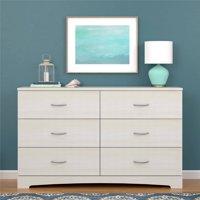 Ameriwood Home Crescent Point 6 Drawer Dresser, Multiple Colors