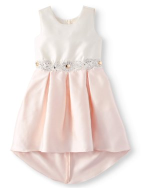 bd7edb78779c Product Image Bow Back Embellished Hi-Lo Occasion Dress (Big Girls)