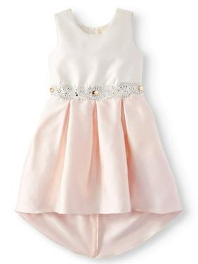 d00c3030d Product Image Bow Back Embellished Hi-Lo Occasion Dress (Big Girls)