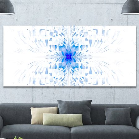 Blue Butterfly Designs (Design Art 'Blue Butterfly Outline on White' Graphic Art on Wrapped)