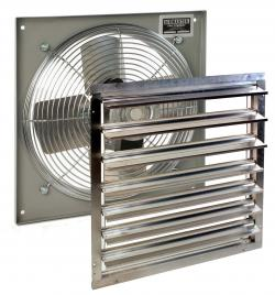 AIRMASTER FAN COMPANY 16EPR16 Wall Fan VS w/Shutters&Spd Ctrl