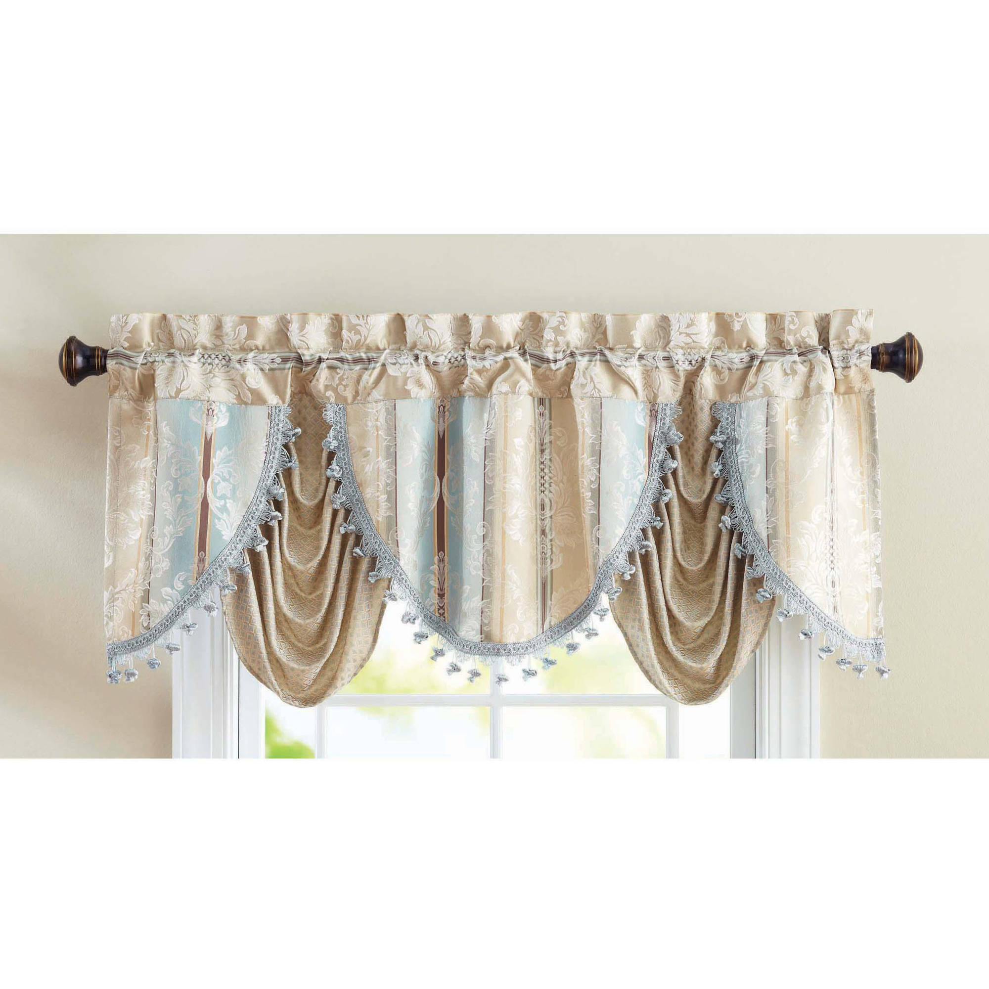 Pioneer Woman Kitchen Curtain And Valance 3pc Set Bandana Teal