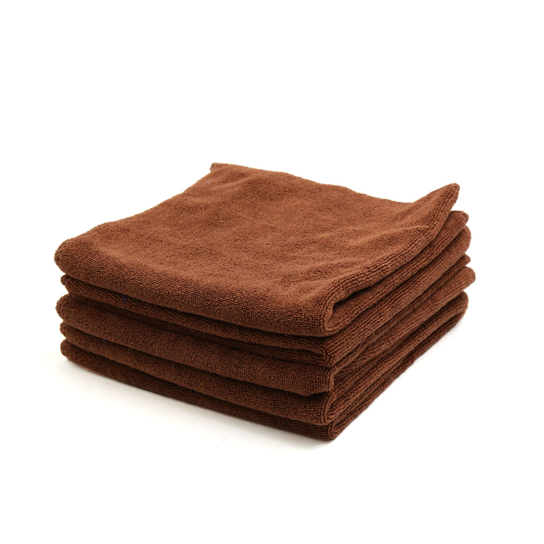 5 Pcs Water Absorbent Car Clean Cloth Towel Protective for Auto Vehicle Car Coffee Color
