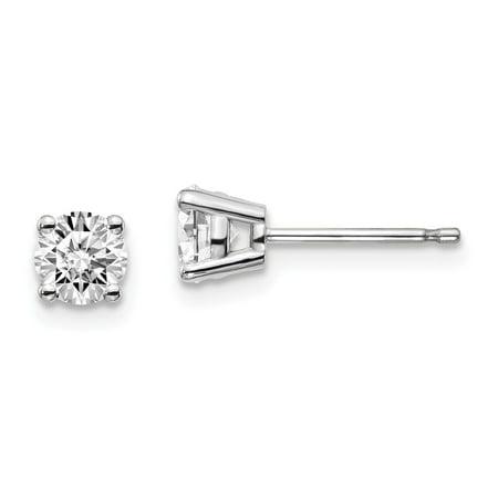 Vs2 Lab - 14k White Gold True Origin Lab Grown Diamond 2/3ctw VS1/VS2, D E, 4-Prong Earrings