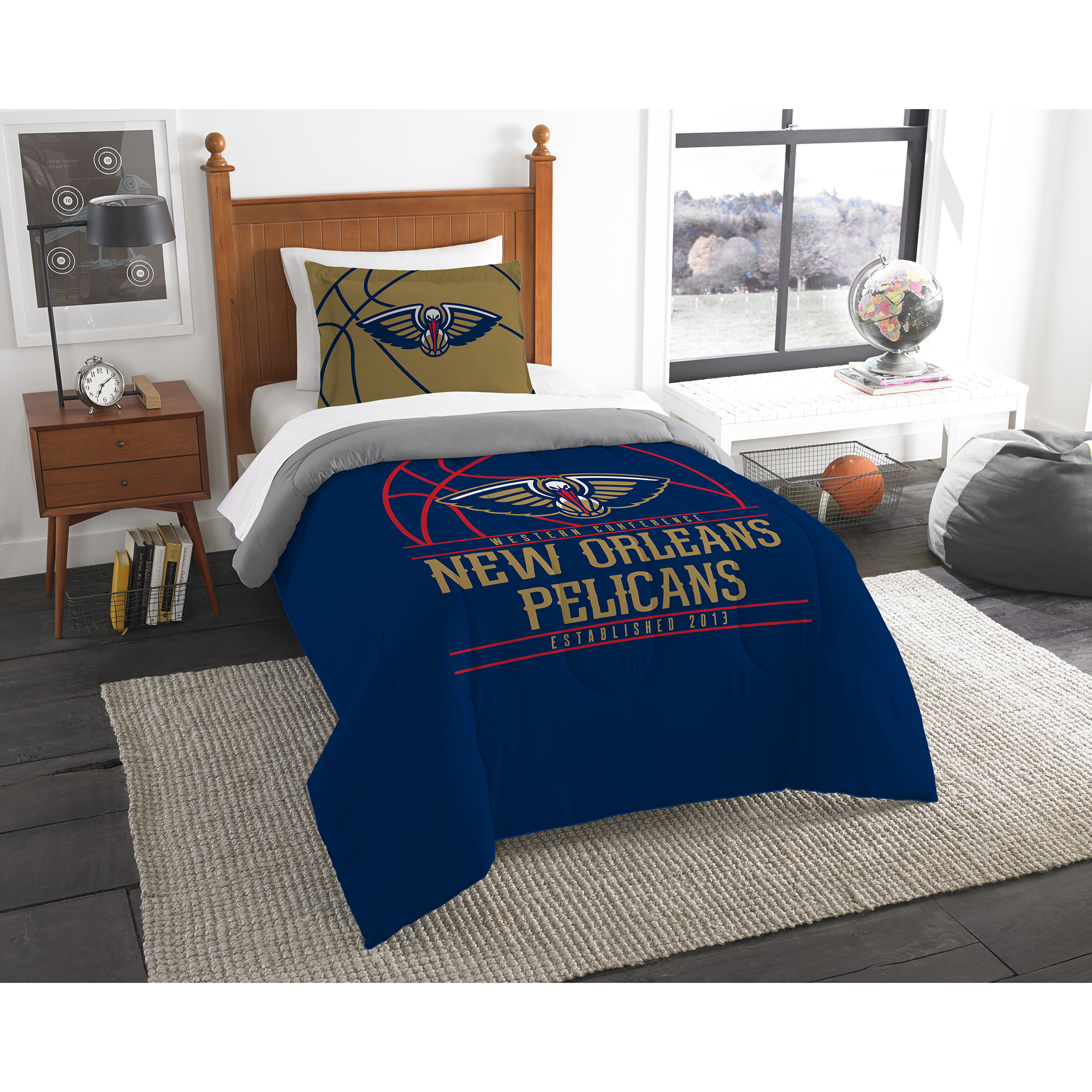 New Orleans Pelicans The Northwest Company Reverse Slam Twin Comforter Set - No Size