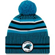 Carolina Panthers New Era 2019 NFL Sideline Home Official Sport Knit Hat - Black/Blue - OSFA