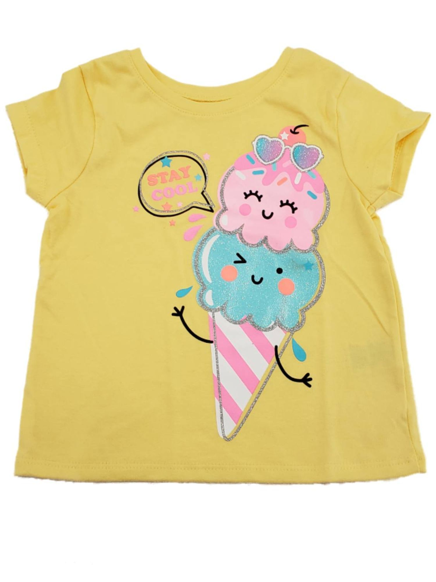 7 ate 9 Apparel Kids Ice Cream Unicorn Raglan Tee Pink