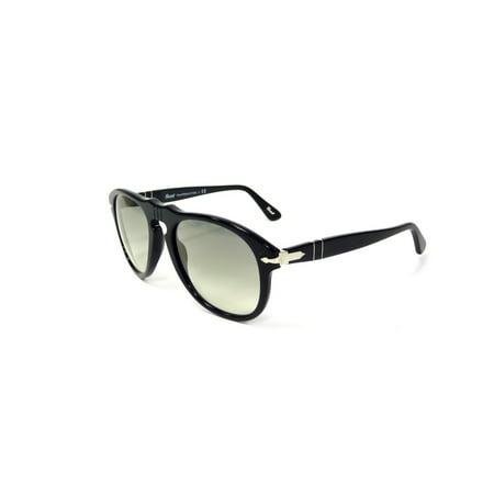 3d67432efa0f ... UPC 713132243893 product image for Persol Men's PO0649 95/32 52 Aviator  Plastic Black Grey ...