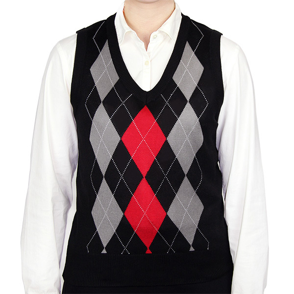 Ladies Argyle Sweater Vest
