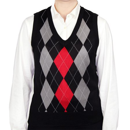139544250 Blue Ocean Clothing - Ladies Argyle Sweater Vest - Walmart.com