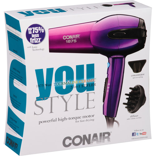 Conair You Style 1875 Watt Tourmaline Ceramic 2-in-1 Styler