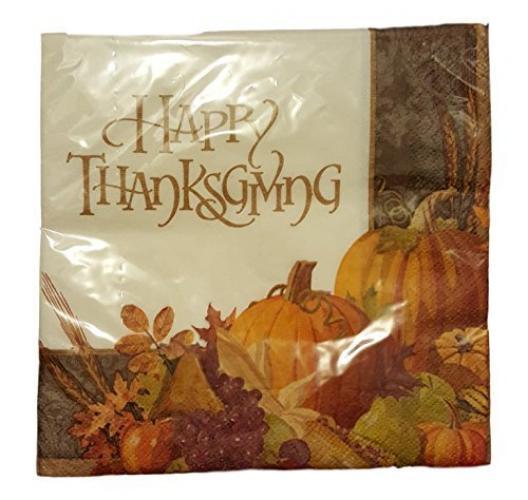 November Harvest Happy Thanksgiving Luncheon Napkins 16ct.