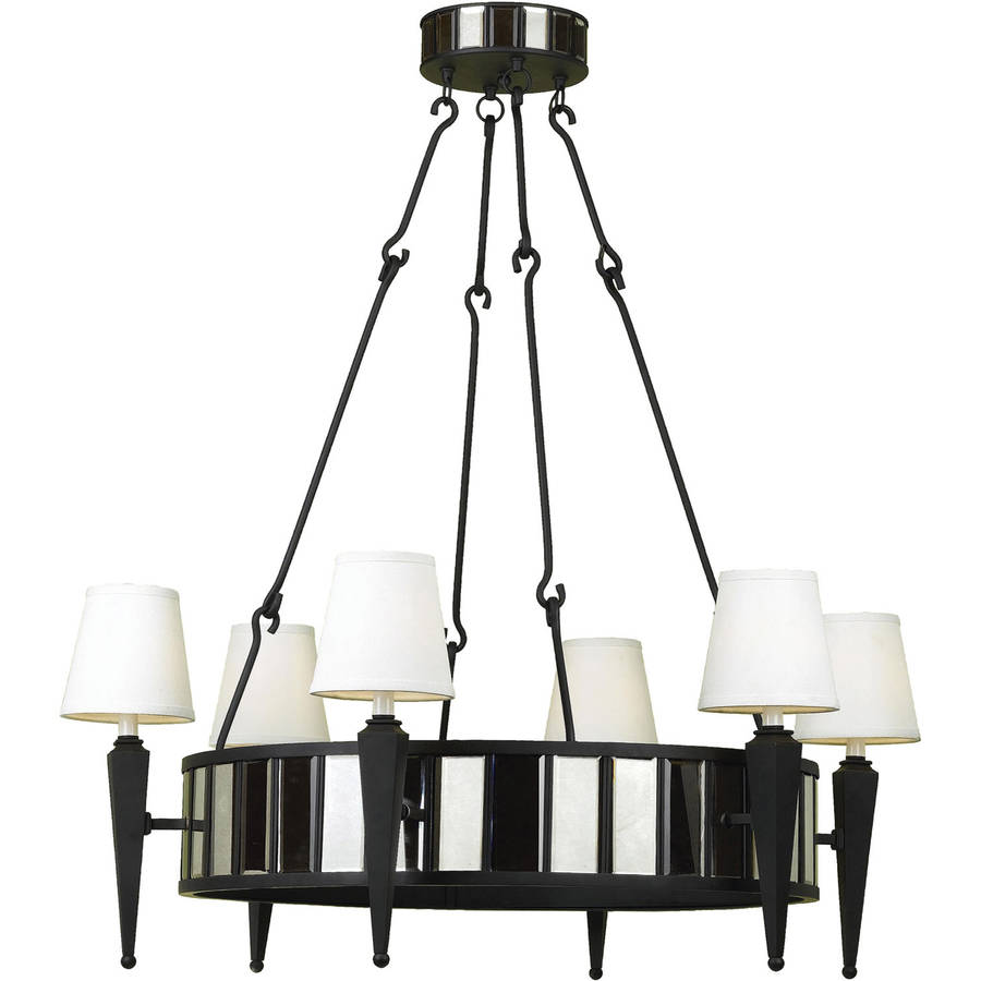 AF Lighting 6790 Six-Light Drum Chandelier