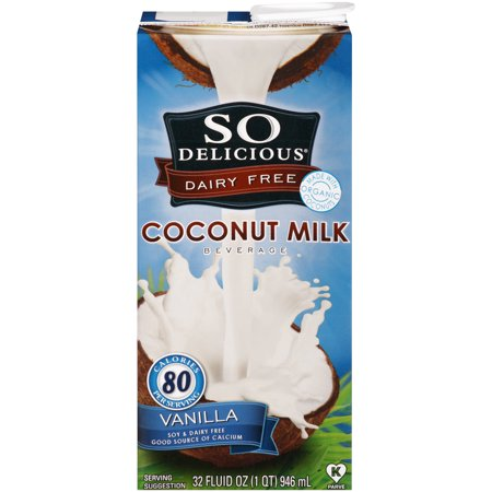 (3 pack) So Delicious Dairy Free Coconut Milk Vanilla, 32 fl
