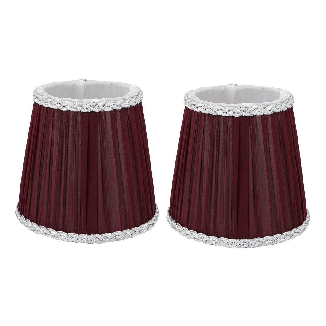 2pcs Wall Shade FloorShade Chandelier Clip-On Lampshade Wine Red Fabric-Covered by