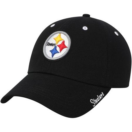 Women's Black Pittsburgh Steelers Miata Adjustable Hat - - Pittsburgh Steelers Hats