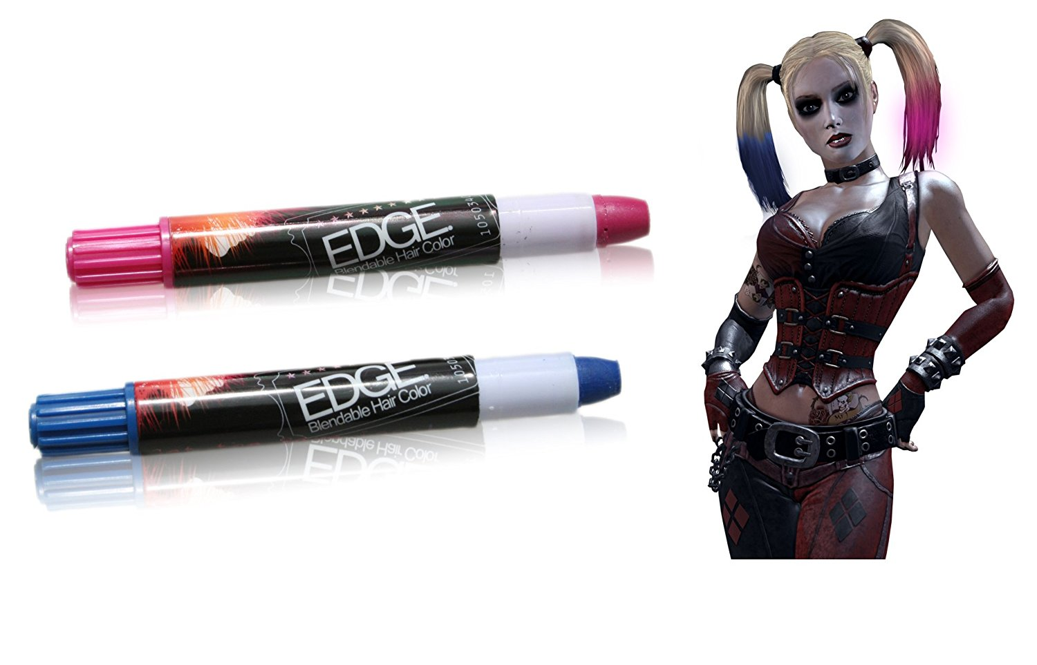 Harley Blue And Pink Hair Chalk Joker Style Edge Stix Temporary