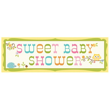 Owl Baby Shower Giant Party Banner - Owl Baby Shower Decor