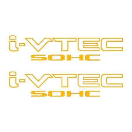 Two(2) Gold HONDA I-VTEC SOHC Car Decal Vinyl Window Wall Sticker JDM (Jdm Honda Stickers)