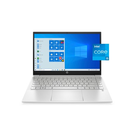 HP 14-dv0010wm 14″ Laptop, 11th Gen Core i5 Quad-Core, 8GB RAM, 256GB SSD