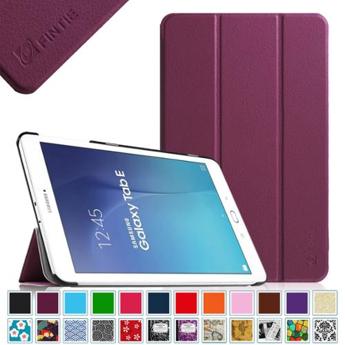 Samsung Galaxy Tab E 9.6 / Tab E Nook 9.6 Tablet Case - Fintie Slim Lightweight Stand Cover, Purple