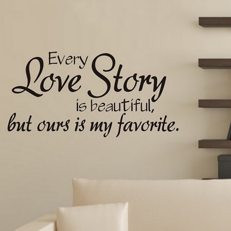 Wall Sticker Quotes,Kapmore Creative English Love Letter Wall Decal Wall  Decor for Living Room Bathroom Bedroom