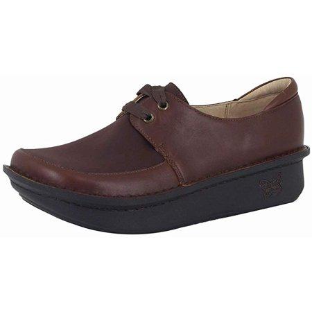 Alegria Shoes (Alegria Womens Dani Lace-Up Clog, Hazelnut, 8-8.5 B)