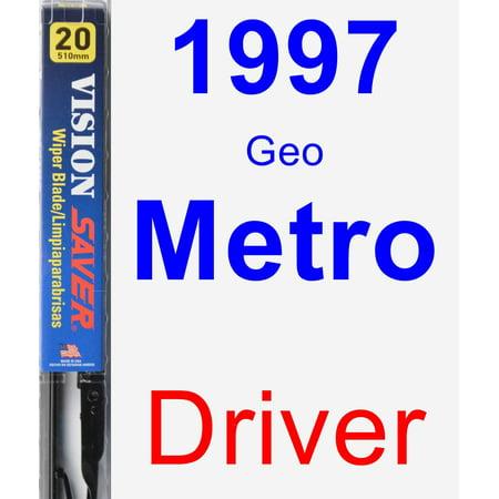 1997 Geo Metro Driver Wiper Blade - Vision Saver 1997 Geo Metro Replacement