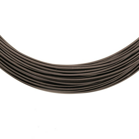 Aluminum Beading Wire, Anodized Black 18 Gauge 48-foot coil jewelry - Anodized Aluminum Wire
